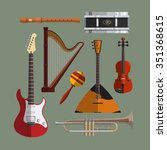 musical instruments collection. ... | Shutterstock .eps vector #351368615