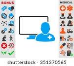 online doctor vector icon.... | Shutterstock .eps vector #351370565
