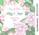 wedding background with two...   Shutterstock .eps vector #351371195