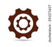 gear  icon | Shutterstock .eps vector #351371627