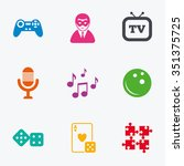 entertainment icons. game ... | Shutterstock .eps vector #351375725