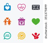 love  valentine day icons.... | Shutterstock .eps vector #351375899