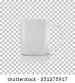 cup or mug white color. object... | Shutterstock .eps vector #351375917