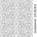 floral pattern. wallpaper... | Shutterstock .eps vector #351382811