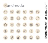 vector round handmade icons   Shutterstock .eps vector #351382817