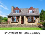 traditional english bungalow... | Shutterstock . vector #351383009
