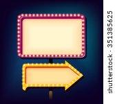 street advertising billboard... | Shutterstock .eps vector #351385625