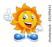 smiling sun | Shutterstock .eps vector #351390611