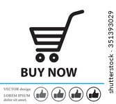 shopping cart  buy now  icon | Shutterstock .eps vector #351393029