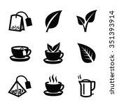 Vector Black Tea Icon On White...