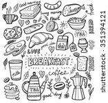 vector breakfast and morning... | Shutterstock .eps vector #351394121