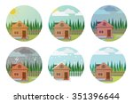 set of weather icons.... | Shutterstock .eps vector #351396644