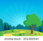 spring topic scenery 1   eps10...   Shutterstock .eps vector #351400544