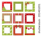 set of christmas border vector... | Shutterstock .eps vector #351401051