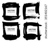black square frames from... | Shutterstock .eps vector #351402167