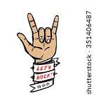 vector let's rock illustration | Shutterstock .eps vector #351406487