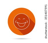 smile icon. positive happy face ... | Shutterstock .eps vector #351407591