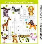 a colorful children's cartoon... | Shutterstock .eps vector #351407861