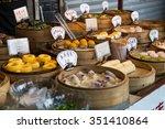 oriental asian desserts sold at ...   Shutterstock . vector #351410864