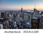 new york city. manhattan... | Shutterstock . vector #351411185