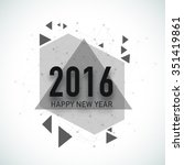creative greeting card with... | Shutterstock .eps vector #351419861