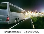 coach on a coutry road at night | Shutterstock . vector #351419927
