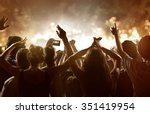 crowd at a festival | Shutterstock . vector #351419954