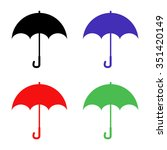 umbrella vector icon   colored... | Shutterstock .eps vector #351420149