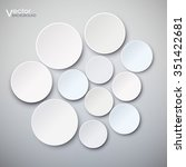 wall with plates. the... | Shutterstock .eps vector #351422681
