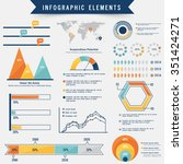 set of creative infographic... | Shutterstock .eps vector #351424271