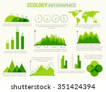 creative ecological infographic ... | Shutterstock .eps vector #351424394