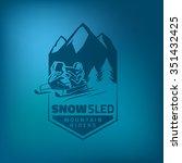 winter snowmobile emblem on... | Shutterstock .eps vector #351432425