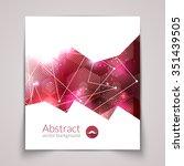 abstract triangular 3d... | Shutterstock .eps vector #351439505