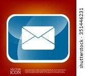 postal envelope sign. e mail...   Shutterstock .eps vector #351446231