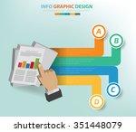 data analysis info graphic... | Shutterstock .eps vector #351448079