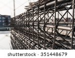 reinforcement of concrete work. ... | Shutterstock . vector #351448679