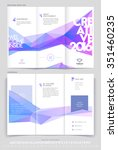 modern tri fold brochure... | Shutterstock .eps vector #351460235