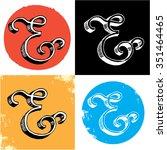set of decorative ampersands on ... | Shutterstock .eps vector #351464465