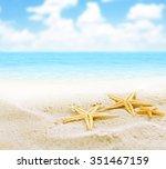 beach background | Shutterstock . vector #351467159