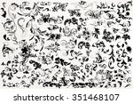 big set of vector black... | Shutterstock .eps vector #351468107