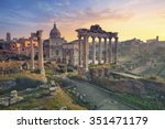 roman forum. image of roman... | Shutterstock . vector #351471179