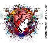 girl tattoo | Shutterstock . vector #351477809