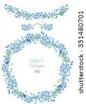frame border  garland and... | Shutterstock . vector #351480701