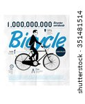 bicycle. riding a bike | Shutterstock . vector #351481514