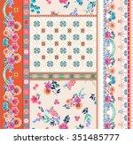 seamless boho   ethnic pattern...   Shutterstock .eps vector #351485777