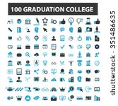 graduation  college  education  ... | Shutterstock .eps vector #351486635