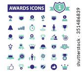 award trophy  achievement ... | Shutterstock .eps vector #351486839