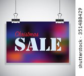 christmas sale on the colorful... | Shutterstock .eps vector #351488429