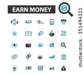 earn money  payment  investment ... | Shutterstock .eps vector #351494321