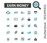 earn money  payment  investment ... | Shutterstock .eps vector #351494321